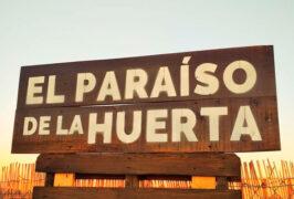El Paraíso de la Huerta- cartel- entrada